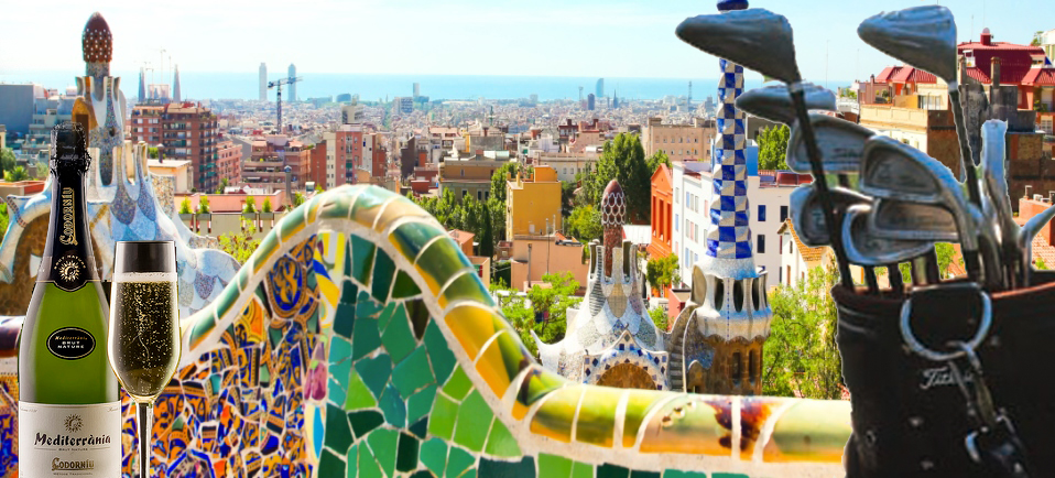 Golf och vin i Barcelona