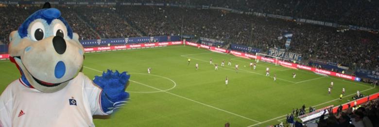 Match på Imtech arena i Hamburg